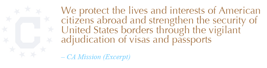 Excerpt from Bureau of Consular Affairs mission statement %>