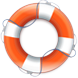 icon of a life safety ring