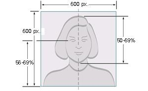 Digital Image Head Size Template